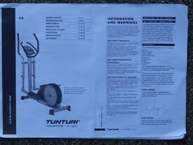 Cross Trainer. Tunturi C6. Solidly built and in good condition. Very Heavy.