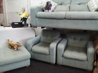 Neww sofology duck egg suite stunning quality bargain