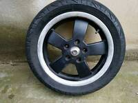 vespa gt gts 125 300 rear wheel original almost new tyre