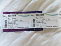 Take That tickets x2 - Genting Arena NEC 6th May