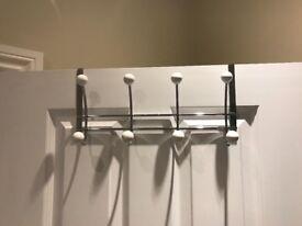 Over Door Chrome 4 Hook Hanger