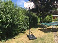 Basketball stand and hoop