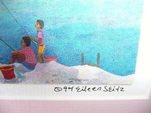 "Eileen Seitz ""Lazy Days"" Signed Print Stratford Kitchener Area image 3"