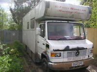 1987 Merceded 709D Camper Van, Festival Van, Race Truck / Van, VW Camper, Glastonbury,