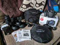 Canon 70D with 3 lenses and accessories