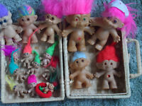 Troll dolls-back in fashion, a collection of 16 for just £20