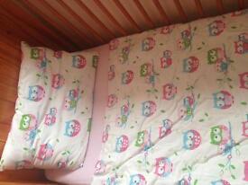Baby girls cot bumper set
