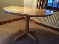 Great quality drop leaf pedestal dining table