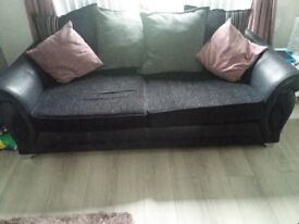 4 seater sofa and 3 seater