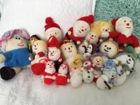 Job lot of knitted Xmas decorations