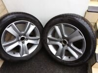 Subaru Outback alloys with tyres