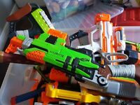 Nerf guns giant box large and small immaxulate