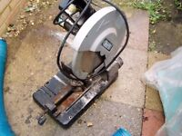 chop saw unit with large blade fitted works very well not used anymore so has to go 110volts