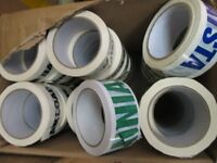 108 ROLLS OF PACKAGING TAPE JOB LOT 3 BOX'S OF 36