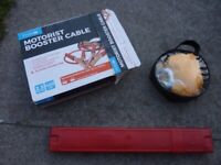 Car / Vehicle / Motorist Breakdown Kit - Jump Leads / Booster Cables, Tow Rope & Warning Triangle