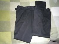 2 Pairs Boys/Teens School Black Trousers