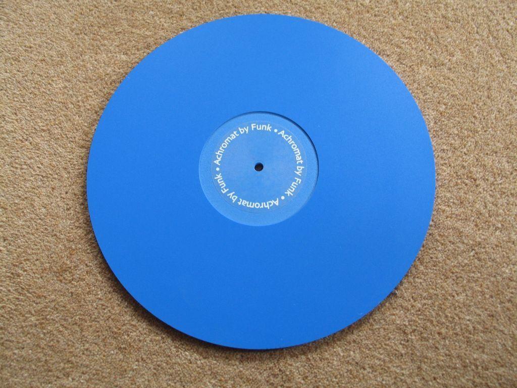 5mm Funk Firm Achromat Turntable Mat Blue Near Mint