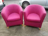 Pairs of tub chairs