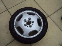 Mercedes a class alloy wheel and hardly used goodyear tyre 195/50r16