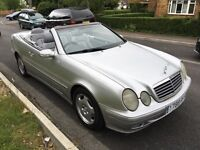 Mercedes CLK 320 Elegance 3199cc Petrol Automatic 2 door convertible Y reg 03/05/2001 Silver