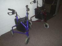 Tri Walker Mobility Walking Aid - Blue - used