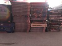 Over 100 WWE DVDs. Practically every PPV from 1996 to 2005. Plus the wrestlemania anthology and more