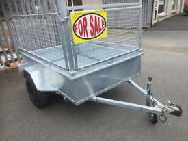 6x4 car trailer fully welded single axle trailer
