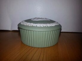 Wedgwood Jasper (Sage Green) Large Fluted Candy Box in original box.