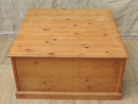 Welsh pine square large storage / coffee table (Delivery)