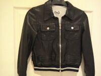 Beautiful Dolce and Gabbana Leather Jacket