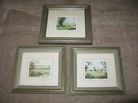 Nick Turley Signed Limited Edition Mini Prints x 3