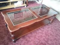 glass panel coffee table to clear