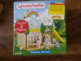 Boxed Sylvanian Families Rainbow Nursery with two figures included