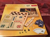 Wooden Game Set -10 games in one