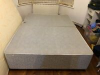 Double divan bed base with four drawers