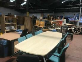 10ft Conference Table & 10 Chairs