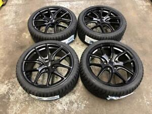 18 BLACK AVANTE GARDE WHEELS 5x114.3 and WINTER TIRES 225/40R18 (JAPANESE CARS) Calgary Alberta Preview