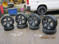 VW ALLOY MONZA WHEELS with tyres
