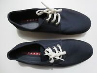 PRADA blue canvas mens casual shoes