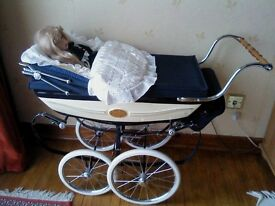 BEAUTIFUL SILVER CROSS NUMBERED LIMITED EDITION DOLL'S PRAM.