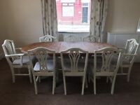 Shabby Chic, Extendable Dining Table and Chairs