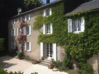 Beautiful French property (8 bed) with pool and 3 bed cottage. Rental and BnB. Edge of village