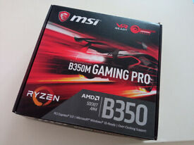 MSI B350m Gaming Pro Motherboard (for AMD Ryzen CPUs)