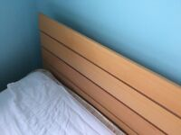 'Next' Beech Double bed frame. Great condition, Simple to assemble