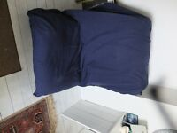 Ikea Single Futon /Chair navy blue cover excellent condition