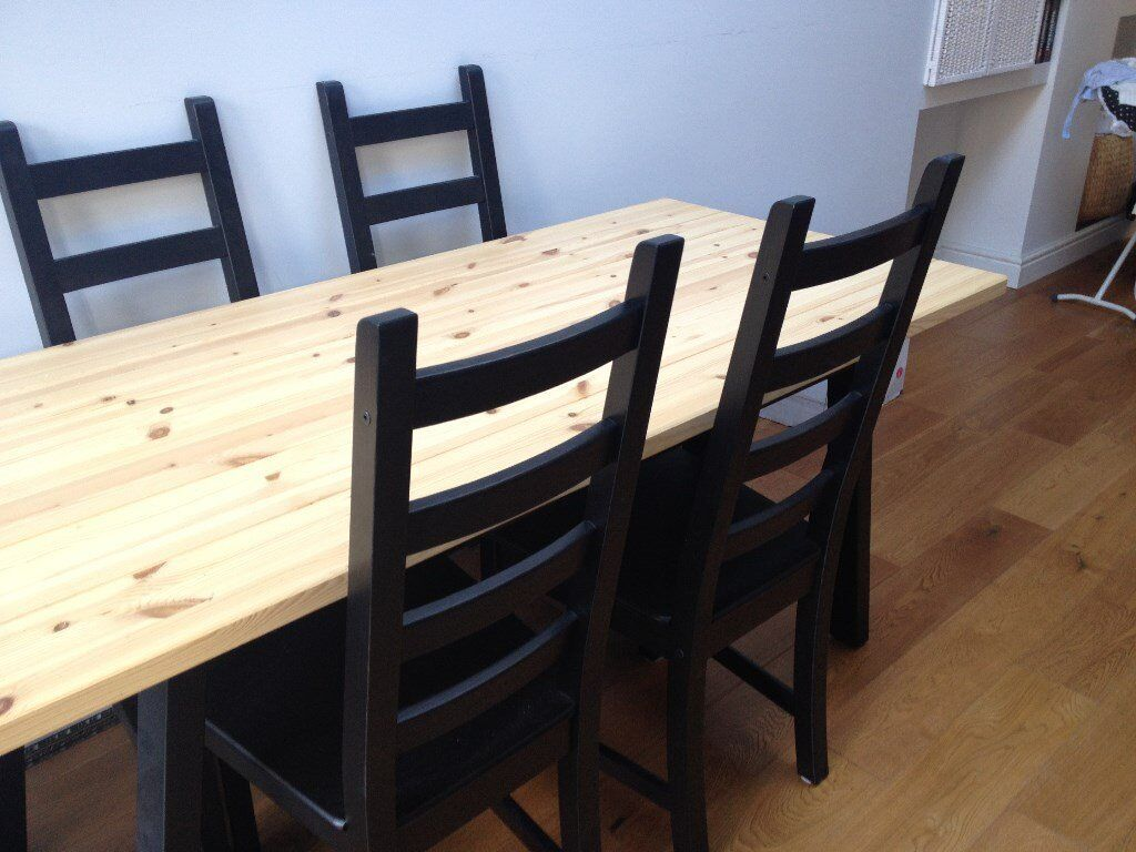 Table ikea ryggestad birch underframe grebbestad black for Ikea table 9 99