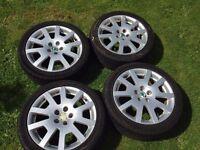 Skoda Fabia VRS Alloy Wheels and Tyres 5 stud 5x100 205/45/16 Polo Ibiza