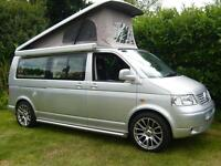 VW T5 T130 2.5L CAMPERVAN WITH NEW INTERIOR CONVERSION 32,000MLS ONLY IN REFLEX SILVER STUNNING