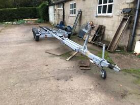 Four wheeled twin axel trailer