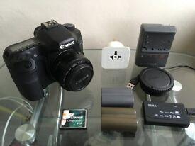 Canon EOS 40D Digital SLR Camera + EF 50mm f/1.8 II Lens + 2 Batteries + 4GB CF Card + Charger